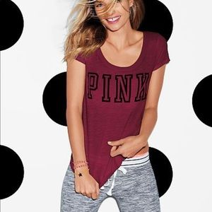 Victoria's Secret PINK Limited Edition Scoop Tee